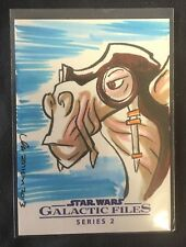 "2013 Topps Star Wars ORIGINAL SIGNED Thom Zahler AUTO 1/1 Sketch Card ""SEBULBA"""