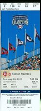 2011 Twins vs Red Sox Ticket:  Darnell McDonald home Run