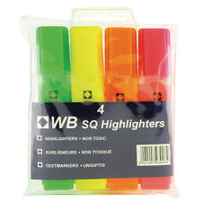 Wallet of 4 assorted highlighters