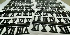 """3/4"""" Black ROMAN Clock Numbers NEW, 20 SETS Easy snap off & self stick USA made"""