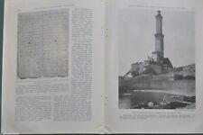 1928 GENOA magazine article, Italy, history, architecture, Christopher Columbus