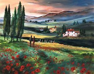 "*BARGAIN* Digby Page Original  'A Stroll Through Tuscany'  Size: 16"" x 20"""