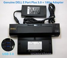 dell pr02x e port plus replicator docking k09a USB 3.0 + 180w adapter tw1p0