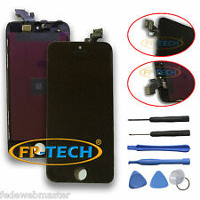 TOUCH SCREEN DISPLAY LCD RETINA SCHERMO E VETRO + FRAME PER APPLE IPHONE 5 NERO