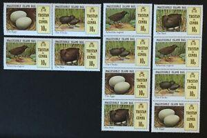 Tristan De Cunha. Birds & Eggs Stamp Set in Strips.  SG315/18. 1981. MNH. #SC528