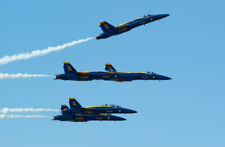 2017 8x10 Photo Navy Blue Angels F/A18 Hornet Jets Fighters Lakeland Florida 2