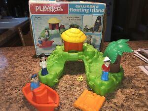 VINTAGE 1977 Playskool Gilligan's Floating Island Playset