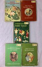 Lot Of 5 Vintage Hardcover Dandelion Library Children's Reversible Flip Books.