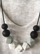 Silicone Sensory (was teething) Necklace for Mum Jewellery Beads Aus Gift Marble