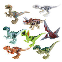 8x Jurassic Building Blocks Park Dinosaur Toys Jurassic World Dinosaur Toy D6U5