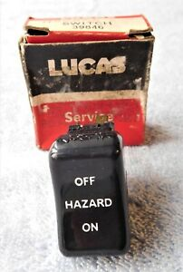NOS LUCAS 39846 HAZARD WARNING SWITCH MGB MIDGET AUSTIN HEALEY