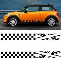 Car Side Door Body DIY Decoration Sticker Lattice Vinyl Decal for Mini Copper &