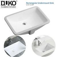 "18-3/4"" x 12-5/8"" Rectangular Lavatory Undermount Bathroom Ceramic Sink US STOCK"