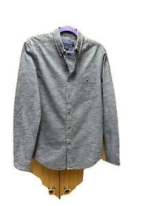 Men's Grey Shirt From TOPMAN Classic Fit UK Small VGC