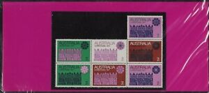 1971 Australia Christmas Post Office Stamps Pack 7x7c Second Block variety issue