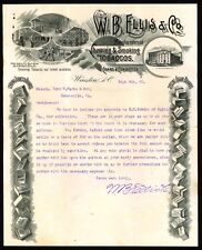 1895 Winston NC - W B Ellis & Co - Chewing & Smoking Tobaccos - RARE Letter Head