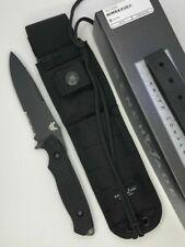 BENCHMADE NIMRAVUS BLACK HANDLE BLACK COMBO EDGE FIXED BLADE KNIFE 140BK