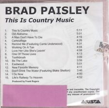 brad paisley this is country music cd promo