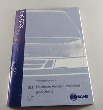 Manuel D'Atelier Saab 9-3 Électrique Schémas de Câblage Modèle Année 2000