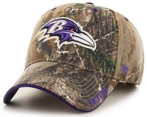 Baltimore Ravens NFL '47 MVP Realtree Frost Camo Hat Cap Adult Men's Adjustable