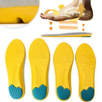HIGH MEMORY FOAM ORTHOTIC ARCH INSOLES SHOE PAD FOOT HEEL CUSHION PAIN RELIEF AC