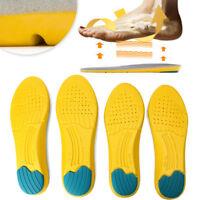 1 Paar Soft Sport Einlegesohlen Memory Foam Atmungsaktive Silikon Gel Kissen Pad