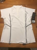 """$120 Ariat """"Arcadia"""" Show Shirt/Top - White - Women's XL - Brand New with Tags"""