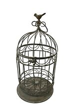 All Chic Purposely Distressed Homemade Birdcage Garden Ornament Decor
