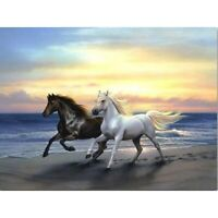 5D Full Drill DIY Horses Diamond Painting Embroidery Cross Stitch Kits Decors