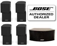 NEW BOSE black Jewel Cube Speakers sealed 5 piece (4 double 1 horizontal center)