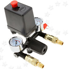 SINGLE PHASE COMPRESSOR PRESSURE SWITCH 131MM WITH AIR REGULATOR & GAUGE & Valve