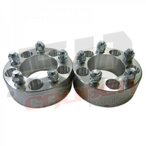 """(4) 2"""" 5x5 Wheel Spacers 5 Lug fits Buick Cadillac Chevrolet Chevy GMC Chrysler"""