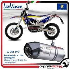 LEOVINCE LV One Omologati IN ACCIAIO SCARICO HUSQVARNA 701 ENDURO 2015 > 2016