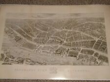 1847 Liverpool Panoramic View Plan Of City Large Quality Reproduction Off Origin