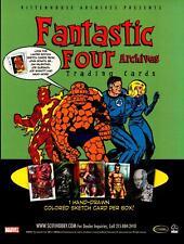 Fantastic Four Archives Trading Card Dealer Sell Sheet Promotional Sale 2008