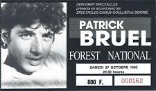 Ticket Concert: Patrick Bruel (27/10/1990) Forest National Bruxelles