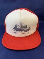 Prince Rupert B.C. Trucker Style Red And White Mesh Hat Snapback EUC