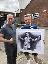 Boxing Carl Frampton Biro Bic Pen Original By Killian Art Signed By Frampton