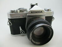 Konica Autoreflex T3 35mm SLR Film Camera w/Hexanon 50mm f1.7 Tested WORKING