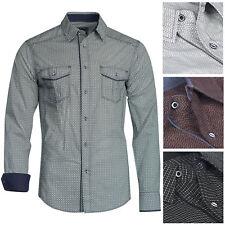 Herren Trisens Cotton Hemd Festlich Langarm Polo Shirt Party Elegant