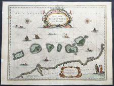 1633 Jansson Original Antique Map of Maluku Islands, Indonesia The Spice Islands