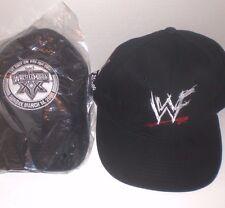 WWF WWE Wrestling Caps Hat Lot Scratch Logo NYSE 2000 Wrestlemania 2004 Black