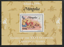 Mongolia 5563 - 1996 OLYMPICS - WRESTLING  DELUXE SHEET unmounted mint