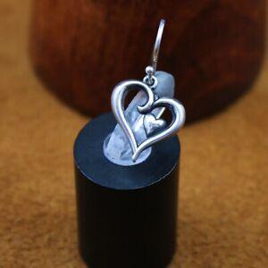 """James Avery """"Joy of My Heart"""" Dangle Hook Earring Sterling Silver *Single Only*"""