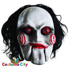 Adulti Ufficiale ha visto i costi comuni Billy Jigsaw Maschera Halloween Fancy Dress accessorio