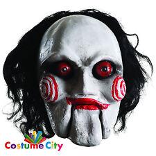 Adults Official SAW Overhead Billy Jigsaw Mask Halloween Fancy Dress Accessory