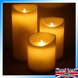 AMAZING FLICKERING CANDLES Natural flame effect Realistic LED Candle Real wax 🕯