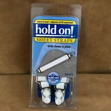 Hold On sheet straps suspenders sliding clip on white set of 4 corner grippers