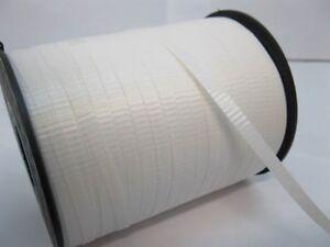 2X 500Yards White Gift Wrap Curling Ribbon Spool 5mm