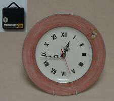 "Wedgwood ""Sarah's Garden"" (Terracotta) 10.75"" Wall Hanging Plate CLOCK"